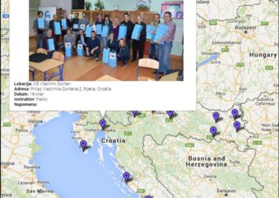Interaktivna karta teach-the-teacher radionica