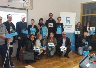 Teach-the-teacher radionice u Splitu, Makarskoj, Zadru, Primoštenu, Dugom Selu, Vinkovcima i Našicama