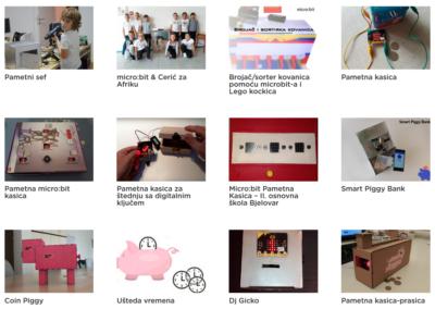 Pametna kasica prasica – rezultati natječaja s kreativnim projektima za micro:bit