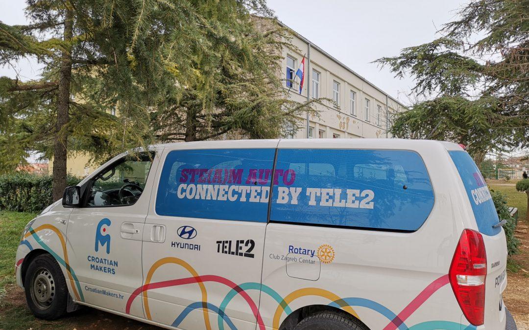 Treći, završni tjedan STEM auta za nastavnike: Istra i središnja Hrvatska