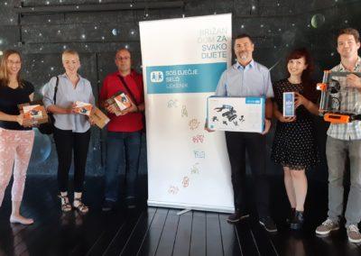 STEM u SOS Dječjem selu – donacija 3D printera, računala, robota i druge opreme